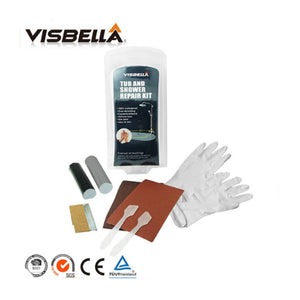 Visbella DIY Tub and Shower Repair Kit Bath Crock Bathtub Repair Hand Tool Sets Glue Powerful Reinforcing Rapid Fix Fsat Dry