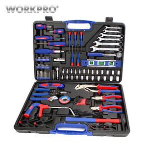 WORKPRO 139PC Home Repair Tool Set Household Tool Kits Screwdriver Set