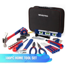 Load image into Gallery viewer, WORKPRO 165PC Home Tool Set Household Tool Kits Ratchet Wrench Sockets set Precision Screwdriver Bits Set Hex Key Hammer