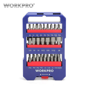 WORKPRO 51-piece Screwdriver bits Set multi bits set with Slotted Phillips Torx Hex Bits and Nut Driver
