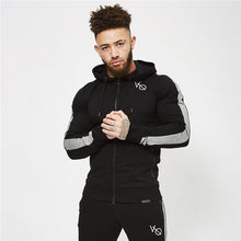 Load image into Gallery viewer, Spring Men Sportswear Tracksuit Zip Up Hooded Jacket Sweatshirt+pants Male Running Jogger Exercise Workout Outfit Set Sport Suit