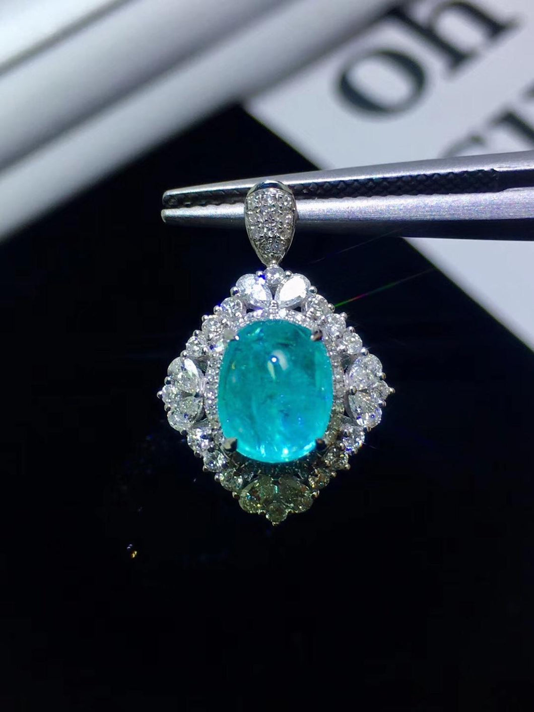 Paraiba Tourmaline Pendant Pure 18 K Gold Jewelry Real Paraiba Tourmaline Gemstone 2.1ct AGL Certificate Pendant Necklaces