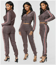 Load image into Gallery viewer, Breathable and Absorb Sweat Fitness Women Tracksuit Fat Burn Fitness Sweat Suits Women 2 Piece Women's Outfits for Exercise