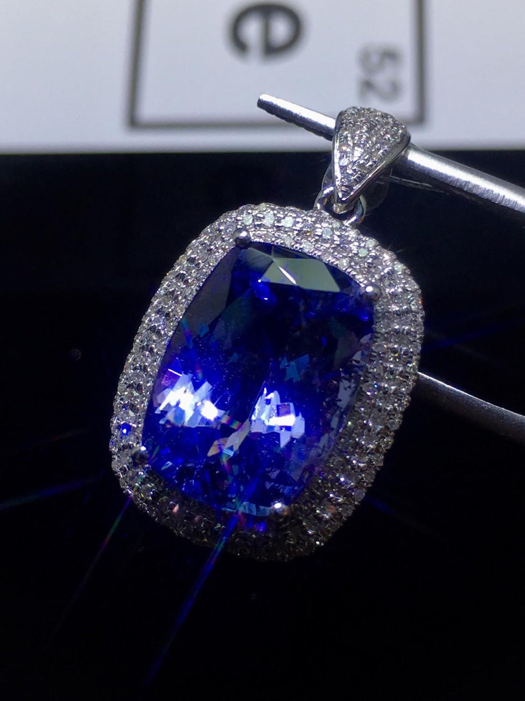 Fine Jewelry Tanzania Origin Real 18K White Gold 100% Natural Blue Tanzanite Gemstones 7.8ct Diamonds Fine Chic Pendant Necklace