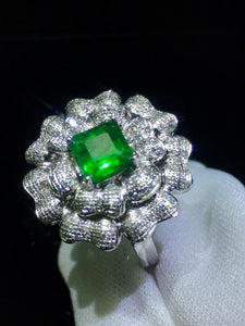 Emerald Ring Fine Jewelry Real Pure 18 K Gold 100% Natural Emerald Gemstones 1.6ct Female Wedding Rings for women Fine Ring