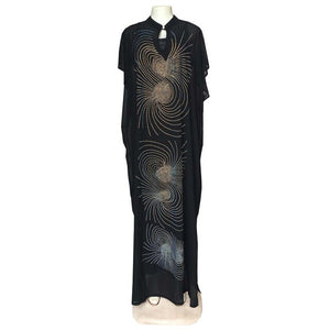 south africa black dresses for women long dimonds dress summer ladies clothes dashiki rhinestone saty women african clothing