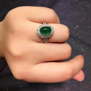 Fine Jewelry G18k Rings Real Diamonds 18K Gold Natural Emerald 4.23ct Gemstones Female Wedding Rings for women Fine Ring