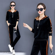 Load image into Gallery viewer, Women Sportswear Tracksuit Velvet Long Sleeve Hoodie Sweatshirt+pant Running Jogger Casual Exercise Workout Outfit Sport Set