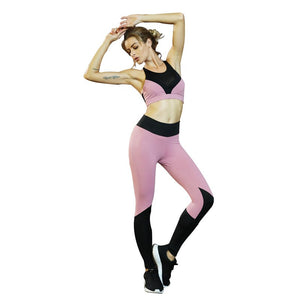 Sportswear for Women Outfit Mesh Yoga Set Fitness Gym Clothing 2 Piece Active Workout Clothing Running Exercise Gym Sets