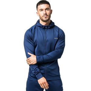 Spring Men Sportswear Tracksuit Hooded Jacket Sweatshirt+pant Male Running Jogger Casual Workout Outfit Exercise Set Sport Suit