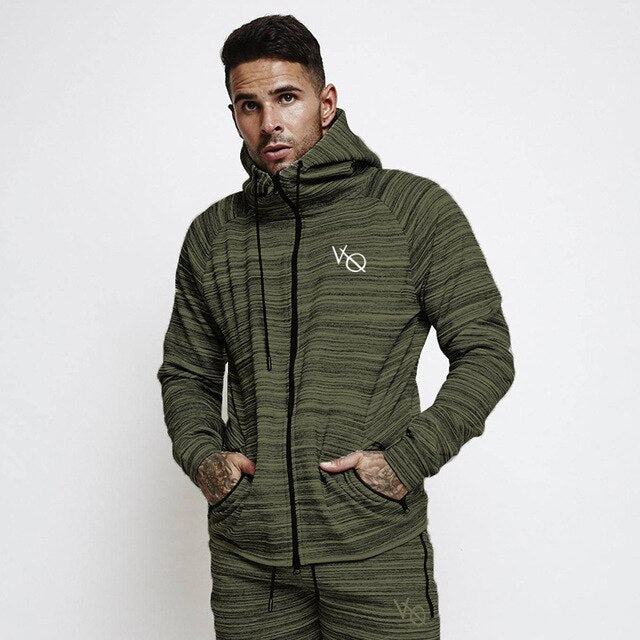 Spring Men Sportswear Tracksuit Hooded Jacket Sweatshirts+pant Male Running Jogger Casual Workout Outfit Exercise Set Sport Suit