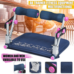 Large Ab Sit-ups Abdominal Trainer Adjustable Exercise Workout Machine Home Gym Fitness Equipment Training Tools Multifunction