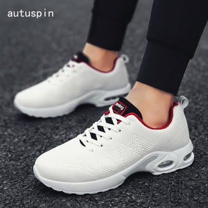 autuspin Cushioning Men's Sneakers Breathable Summer Classic Retro Running Shoes for Men Outdoor Workout Trainer Sport Shoes Man