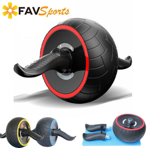 Abdominal Muscle Trainer AB Roller with Mat ABS Gym Abdominal Training Workout Keep Fit Power Roller Exercises Equipment
