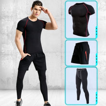 Load image into Gallery viewer, Sportsman Suits Exercise Sets Running Clothes Fitness Training Jogging Yoga Sets Compression Suits Trackfield Outfit Motion Gear