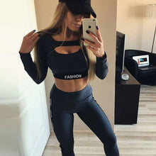 Load image into Gallery viewer, Yoga Suit Women Long Sleeve Seamless Set Fitness Clothing  2 Pieces Exercise Workout Clothes Runnning Athletic Wear Outfit