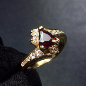Fine Jewelry Real 18K Gold 100% Natural 1ct Red Ruby Gemstone Luxury 18k Gold Diamonds Stone Female Ring for Women Rings