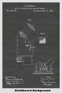 Photovoltaic Cell Patent Print Art Poster