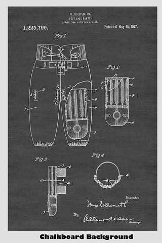 Football Pants Patent Print Art Poster