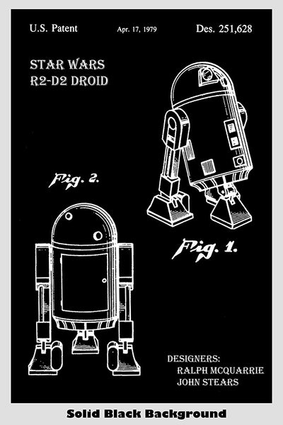Star Wars R2-D2 Droid Patent Print Art Poster