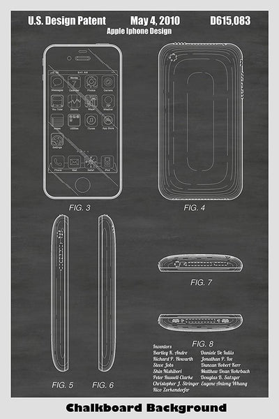 Design patent print of an apple iPhone