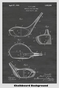 Metallic Golf Club - Driver Patent Print Art Poster