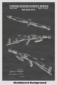 Toy Space Laser Rifle Patent Print Art Poster
