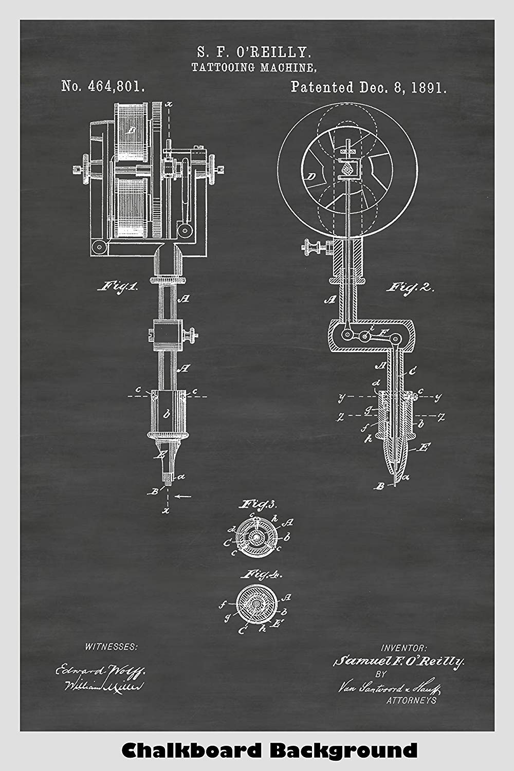 Tattoo Machine Poster Patent Print Art Prints And More Tattoomachinediagramjpg