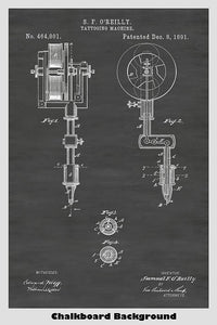 tattoo devices patent prints and more  wireless tattoo machines diagram #13