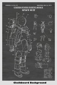 NASA Apollo Mission Space Suit Design Patent Print Art Poster
