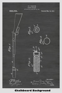 Rifle Silencer Poster Patent Print Art Poster