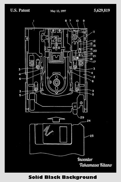 Floppy Disk Drive Patent Print Art Poster