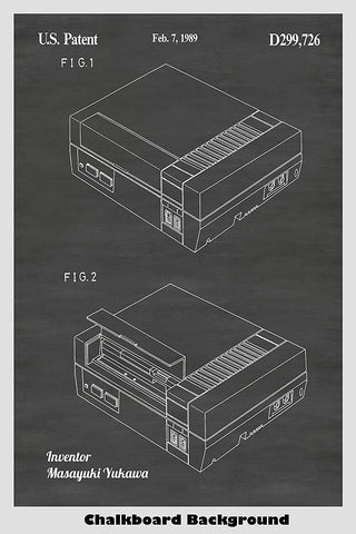 Nintendo Entertainment Game System Patent Print Art Poster