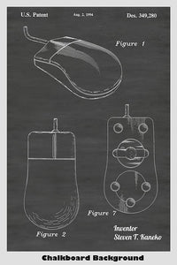 Design of a Computer Mouse Patent Print Art Poster