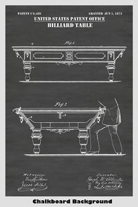 Patent of a Victorian era pool table