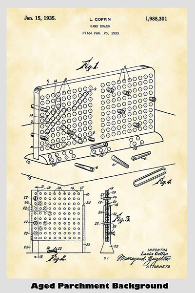 Battleship Game Patent Print Art Poster
