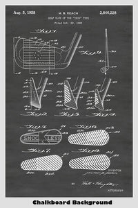 Golf Club - Iron Poster Patent Print Art Poster