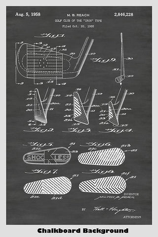 Golf Club - Iron Patent Print Art Poster