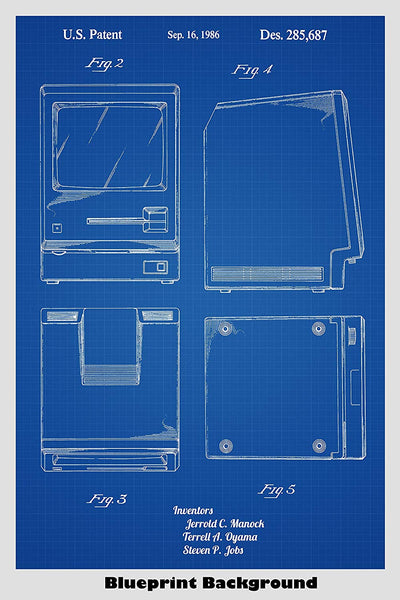 Apple Macintosh Patent Print Art Poster
