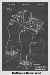 Atari 2600 video game system patent print