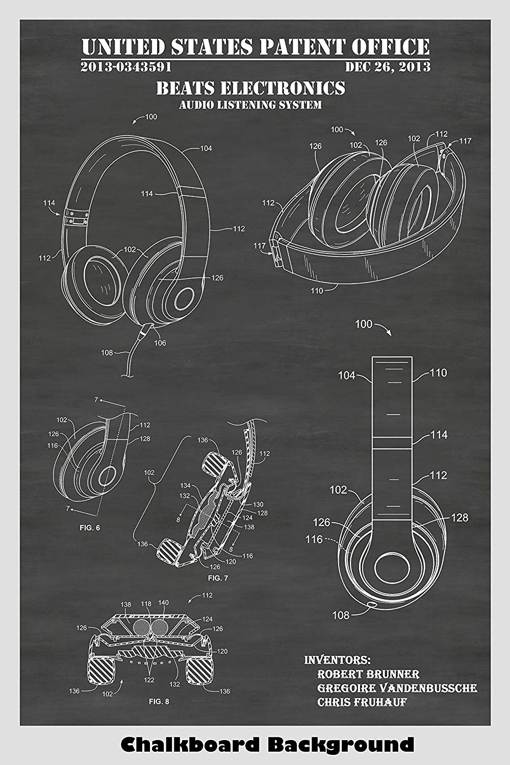 Patent Art for Beats Headphones