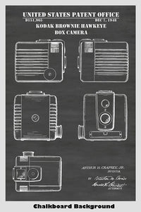 Kodak Brownie Box Camera Patent Print Art Poster