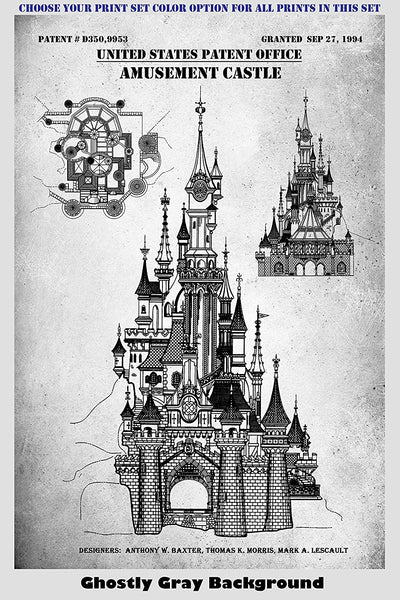 Disney Theme Park Rides Patent Print Art Posters Wall Decor Collection