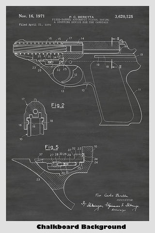 Beretta Fixed Barrel Automatic Pistol Art