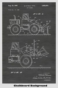 Tonka Toy Bulldozer Construction Truck Patent Print Art Poster