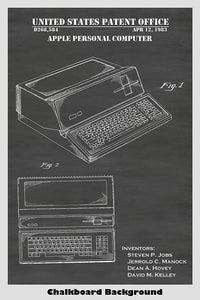 Apple Personal Computer Patent Print Art
