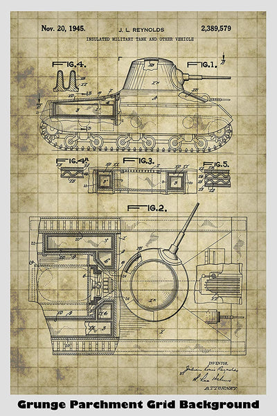 US Army Tank Patent Print Art Poster – Patent Prints and More