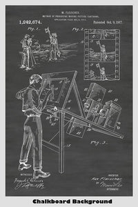 Max Fleicher's Animation Rotoscope Patent Print Art Poster