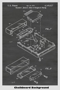 Atari Video Game System Cartridge Patent Art Poster