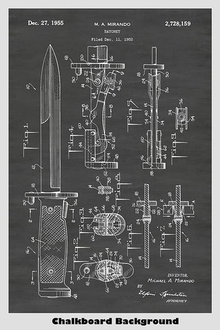M5 Bayonet For M1 Garand Rifle Patent Print Art Poster
